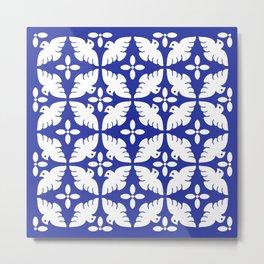 Dove Pattern Metal Print
