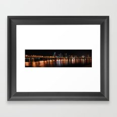 portland across the willamette Framed Art Print