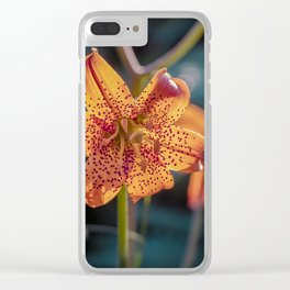 Tiger Lily II Clear iPhone Case