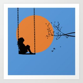 Dreaming like a child Art Print