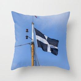 Saint Piran's flag Throw Pillow
