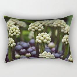 Green Aralia Flowers Rectangular Pillow