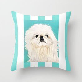 Peke Mishka Throw Pillow