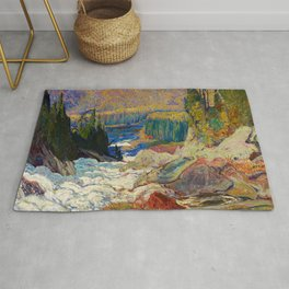 Falls Montreal River by James Edward Hervey MacDonald - Canada, Canadian Oil Painting Rug