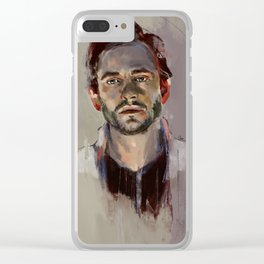 Red Ears Clear iPhone Case