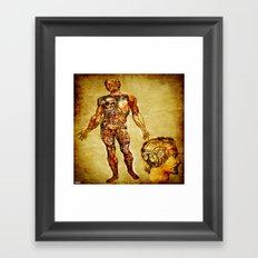 bionic man  Framed Art Print
