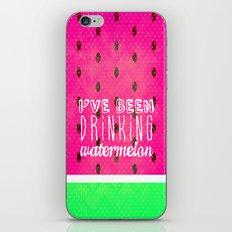 Drinking Watermelon iPhone & iPod Skin