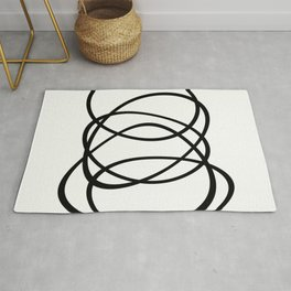 Come Together - Black and white, minimalistic, abstract, art print Rug
