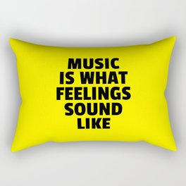 Music Feelings Sound Like Quote Rectangular Pillow