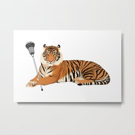 Lacrosse Tiger Metal Print