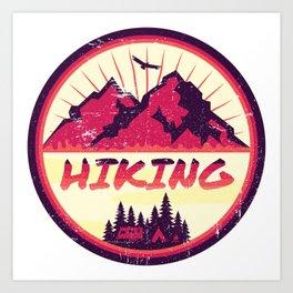 Hiking Nature Camping Art Print