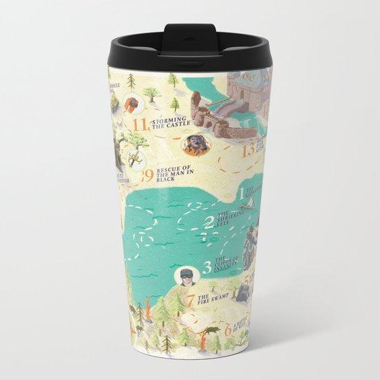 Princess Bride Discovery Map Metal Travel Mug