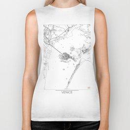 Venice Map White Biker Tank