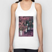 kodama Tank Tops featuring Kodama in the woods by pkarnold + The Cult Print Shop