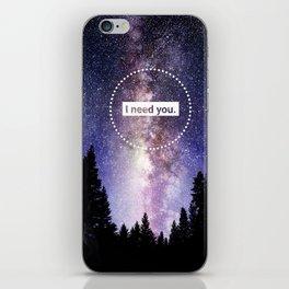 Bellamy and Clarke - I need you iPhone Skin
