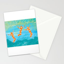 Jump for Joy in Autumn Leaves Stationery Cards