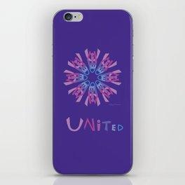 United Mandala with UNITED - Violet iPhone Skin