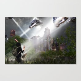 Invasion In Montreal Canvas Print