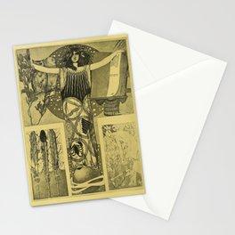 Art Nouveau Witch Stationery Cards