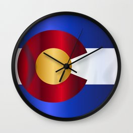 State Flag Of Colorado Wall Clock
