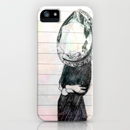 colour diamonds iPhone Case