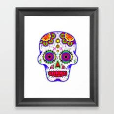 Sugar Skull Framed Art Print