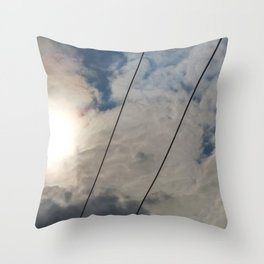 clouds and wire, abstract, no.02 Throw Pillow