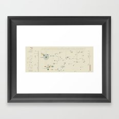 Mistery map (Visual Data 12) Framed Art Print