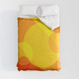 Orange Spheres Abstract Comforters