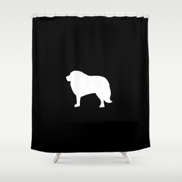 Big White Dog Shower Curtain