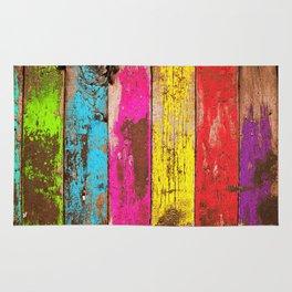 Vintage Colored Wood Rug