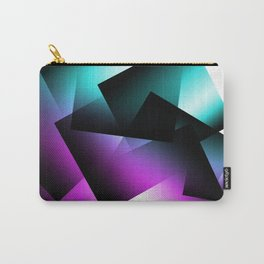 Teal and Fuchsia Transparent Blocks Carry-All Pouch