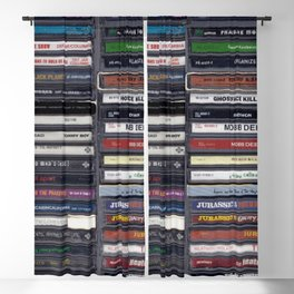 Old School 80's and 90's Hip Hop CD Collection Blackout Curtain