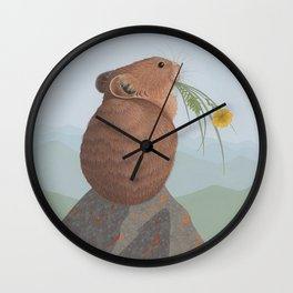 American Pika Wall Clock