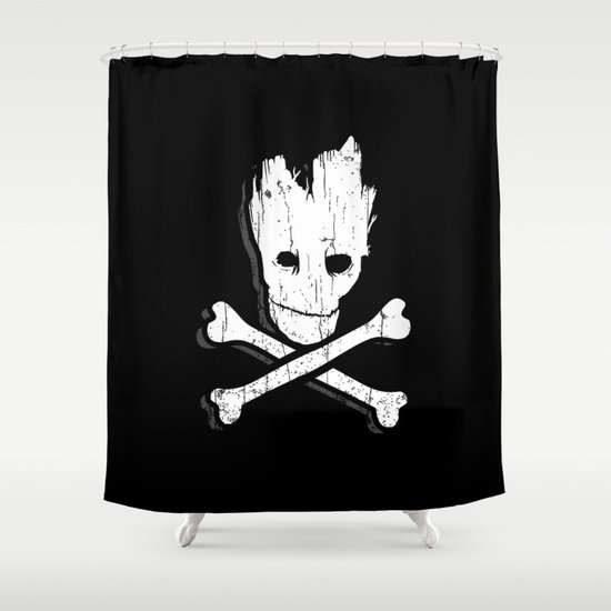 Groot & Bones Shower Curtain