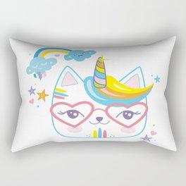 caticorn unicorn crazy cat lady unicat gift kawaii tee shirt Rectangular Pillow