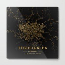Tegucigalpa, Honduras - Gold Metal Print