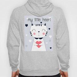 CAT CARTOON WITH HEART Hoody