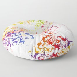 Rainbow Spurt 01 Floor Pillow