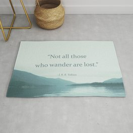 Blue Lake + Tolkien Quote Rug