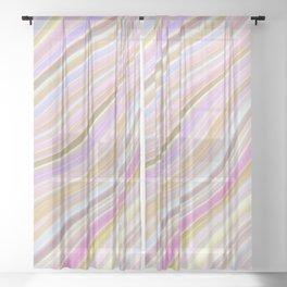 Wild Wavy Lines 24 Sheer Curtain