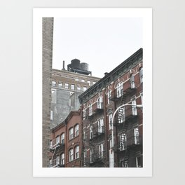 New York City corners, fire escapes, ladders fine art , nyc, America, photo Art Print