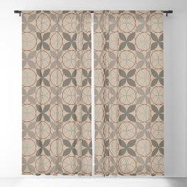 Rock Gray Leaves Blackout Curtain