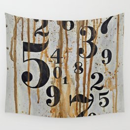 Numeric Values: Crude Figures Wall Tapestry