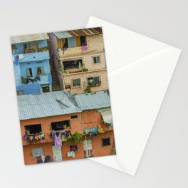 Colorful Houses on a Hill Stationery Cards