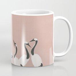 Crane Dance - Mauve Pink Coffee Mug