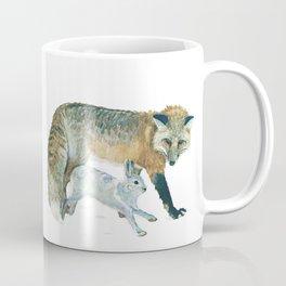 Fox and Hare Coffee Mug