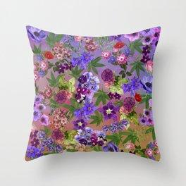 Graceful Ganja Flowers and Pot Throw Pillow