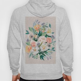 Pastel bouquet with roses Hoody