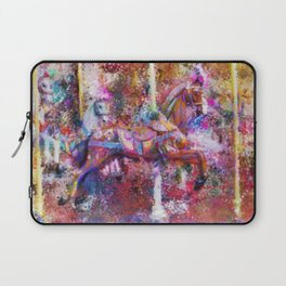 Carousel Horse Expressionist Painting Laptop Sleeve
